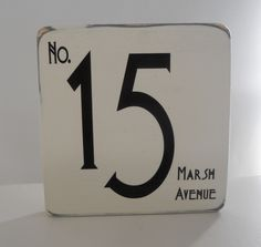 House Number Art Deco Sign Shabby Chic Made To Order 15 00 Via Etsy
