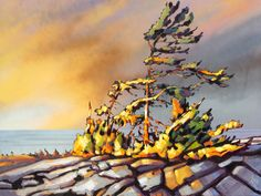 """Black Bay"" by Jerzy Werbel Acrylic on canvas SOLD"