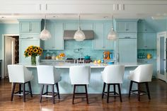 This is how large the island in My Dream Coastal Kitchen will be.