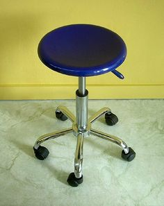 Richeson Pneumatic Studio Stool- Yellow Seat by Richeson. $69.95. Richeson Pneumatic Studio Stool This versatile stool is perfect for the studio or office. Sturdy metal tube construction holds a plastic seat. The seat is 12-1/2 inches in diameter  and can be raised from 17-1/2 inches to 22-1/2 inches high. Push button pneumatic lift. The base rests on five plastic caster wheels. This stool is available with a black  blue  or yellow seat. Base is silver with black ...
