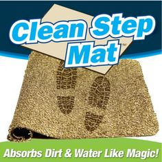 Super Absorbent Clean Step Doormat from eFizzle