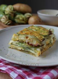 Parmigiana bianca senza pomodoro di zucchine patate e mozzarella Statusmamma ricetta cucinare foto blogGz blog Tutorial Giallozafferano vegetariano frutta verdura