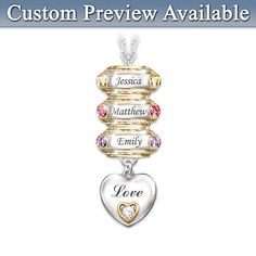 Forever In A Mother's Heart Personalized Pendant Necklace This would also look great with just regular euro beads and charms - whether silver or gold.