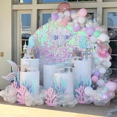 2 pcs Under The Sea & Little Mermaid Baby Shower Party Decorations - Roll It Baby Mermaid Party Decorations, Balloon Decorations, Birthday Decorations, Shower Party, Baby Shower Parties, Mermaid Theme Birthday, Mermaid Themed Party, Mermaid Baby Showers, Baby Shower Mermaid Theme