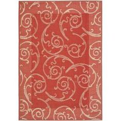 @Overstock.com - Perfect for any backyard, patio, deck or along the pool, this rug is great for outdoor use as well as any indoor use that requires an easy to maintain rug. This rug has a Red background and displays stunning panel color of Natural.http://www.overstock.com/Home-Garden/Red-Natural-Indoor-Outdoor-Rug-27-x-5/6481710/product.html?CID=214117 $34.79
