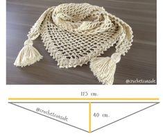 Chal a crochet en punto red Crochet Jacket, Crochet Cardigan, Crochet Scarves, Crochet Shawl, Knit Crochet, Baby Girl Crochet, Crochet Projects, Knitted Hats, Crochet Necklace