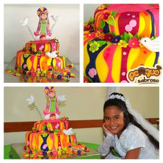 Tortas decoradas por @zac andresé Sabroso para Primeras comuniones, total imaginación con amor, visita nuestro sitio web : www.ponquesabroso.com.co #customcake #cakes #tortas #cumple #primeracomunion