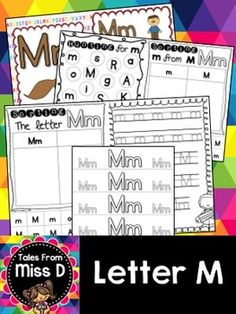 This pack contains no prep/print and go activities for the letter M.  Includes;  1) Posters x 2 2) Letter Hunt 3) Case Sorting 4) Letter Sorting 5) Handwriting 6) Bracelets
