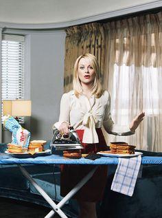 Hyper-domestic Amy Poehler Kitchen Funny Iron Ironing Board