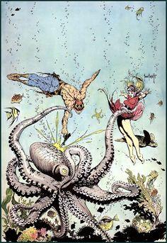 Frank Frazetta Ω illustrations for Buck Rogers