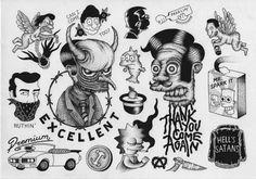Tattoo traditional flash black illustrations new ideas Tattoo Mafia, Cat Tattoo, Tattoo Drawings, Simpsons Tattoo, Simpsons Drawings, Simpsons Art, Music Quote Tattoos, Traditional Flash, Tattoo Traditional