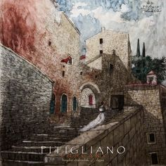 pitigliano dan..... Architecture Drawings, Dan, Models, Mansions, House Styles, Home Decor, Water Colors, Architecture Sketches, Templates