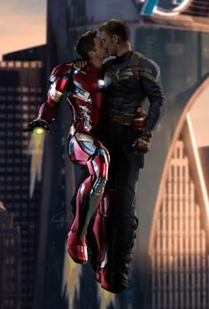 Tony invites Steve to a wee private tour around the city. Of course they take Iron Man Air. Avengers: Fly with Me Stony Avengers, Superfamily Avengers, Stony Superfamily, Spideypool, Marvel Avengers, Tony Stark, Loki, Marvel Couples, Steve And Tony