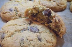 Chocolate chip and nut cookies