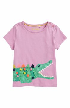 Main Image - Mini Boden Tropical Flutter Tee (Toddler Girls, Little Girls & Big Girls)