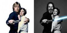 Luke & Leia Then & Now