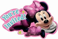 Disney Minnie Mouse Bowtique Invitations