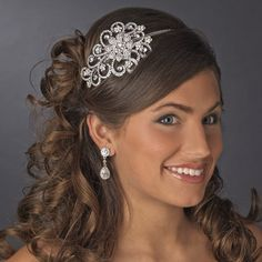 Bold Rhinestone Side Accent Wedding Headband