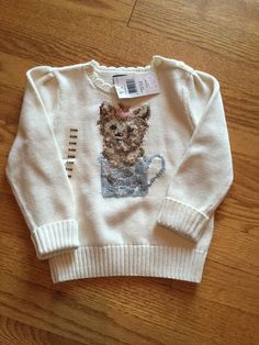 Polo Ralph Lauren Ivory Knit Sweater 24 Months 18 24 Teacup Yorkie | eBay
