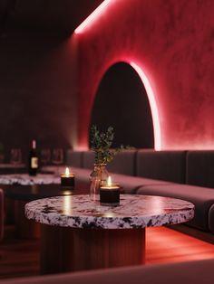 WINE&COCKTAIL BAR on Behance Speakeasy Restaurant, Restaurant Lounge, Bar Lounge, Cocktail Bar Interior, Cocktail Bar Design, Retro Interior Design, Restaurant Interior Design, Restaurant Exterior, Pub Design