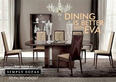 Dining is better when you eat together. Dine with Alf's 'Eva' and experience the Italian craftsmanship - a perfect piece of furniture that doubles as a storage and can accommodate up to ten people. Now on sale only at Simply Sofas. visit: www.simplysofas.in #FurnitureSale #Sale #DiningTable #Alf #Furniture #sofasogood #simplysofas