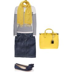 Love the yellow scarf! Totally completes this outfit!