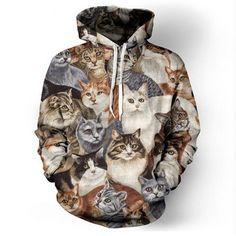 2016 New Sweatshirt Fall Casual Animal Hoodies 3D Lion Sweatshirt Print Lion Head Hip Hop Hoodies Street Wear Free Shipping
