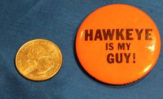 Vintage MASH Hawkeye Pierce Pinback Button by sweatergirlthrift. $5.00, via Etsy.  I need this for my bag!!!!!