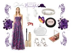 """""""Night Beauty........."""" by paige-brrian ❤ liked on Polyvore featuring Notte by Marchesa, Kenneth Jay Lane, Eddie Borgo, Halston Heritage, Alaïa and Stila"""