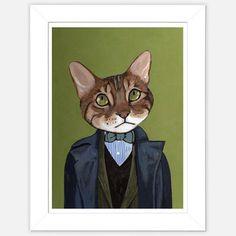 Framed Cat Print Kong  by Heather Mattoon