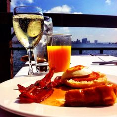 Sunday Brunch @ Tom Ham's Lighthouse in San Diego, CA   The food is great and they have unlimited mimosas