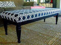 How To: Turn a Coffee Table into an Upholstered Bench