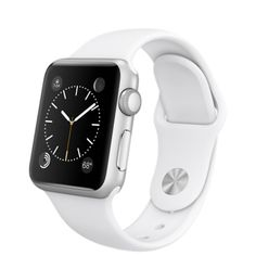 Apple Watch Sport - 38mm Silver Aluminum Case with White Sport Band - Apple