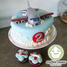 Jet Plane Cake and Cupcakes