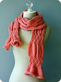 Coral Smocked Scarf