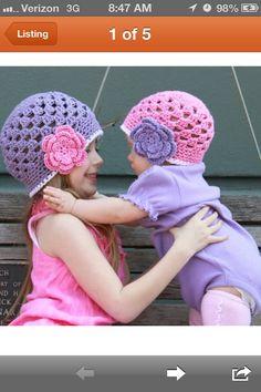 Pink & purple hats