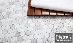 Still just $8.95 a Square Foot and no tax unless you live in GA. Pietra Carrara 2 inch hexagon Marble Mosaic Tile. Free Shipping, $8.95 Sq.Ft. and no Tax thought I might say it again.