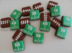 Square Football Cookies!