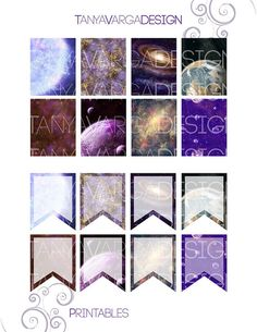This listing is for a JPEG instant digital download of the Space Fantasy Art Collection Full Boxes and Flags set for the Erin Condren life planner weekly layouts. This file is specifically for printing and cutting by hand (with scissors, hobby knives, paper trimmer, etc). Watermarks shown in store preview are not in the downloaded file.  These sticker designs feature a collection of some of my best space/Sci-Fi themed artwork. Prints of these paintings available in my Society6 shop here:...