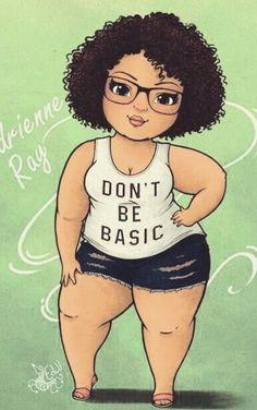 black women without curves Black Love Art, Black Girl Art, Black Girls Rock, Art Girl, African American Art, African Art, Plus Size Art, Natural Hair Art, Black Art Pictures