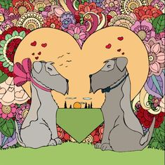 Happy Valentines to all our furry friends Coloring Apps, Adult Coloring, Coloring Books, Color By Numbers, Kawaii, Happy Colors, Disney Pictures, Cartoon Drawings, Puppy Love