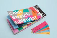 Shop - Color Swatch Calendar 2016   Slanted - Typo Weblog and magazine