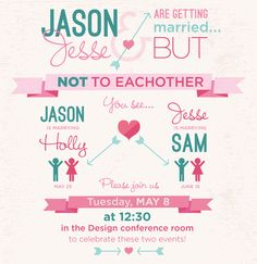 Double Bridal Shower Invite Two Brides twice the party ReaLife