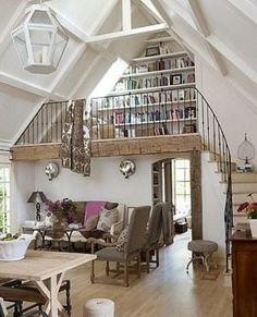 Book Nook would so love to have an area like this :-) by keaw