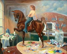 WORK IN PROGRESS II by Jeanne Newton | American Saddlebred Museum 2007 Auction