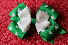 St. Patrick's Day Bow precious for little girls!