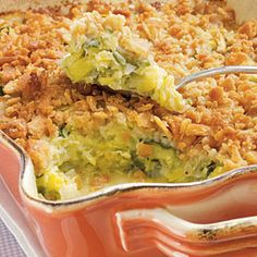 Loosely cover the casserole with aluminum foil halfway through the baking time so that the crackers don't overcook.