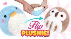 DIY VIRAL REVERSIBLE PLUSHIE!!! Owl & Penguin Sock Plush - Cute Budget Xmas Gift Ideas - YouTube