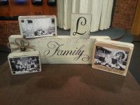 Looking for the perfect handmade gift? These DIY photo blocks can be used to hold photos, Christmas card or even recipe cards! Personalize them for that specia… Inexpensive Christmas Gifts, Easy Diy Gifts, Diy Christmas Gifts, Christmas Wood, Christmas Signs, Christmas Ideas, Homemade Gifts, Handmade Christmas, Holiday Ideas