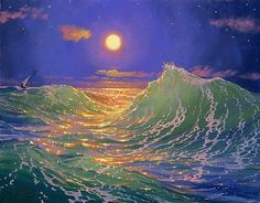 """""""We are like islands in the sea, separate on the surface but connected in the deep."""" ― William James (Artist: Loren D. Adams)"""